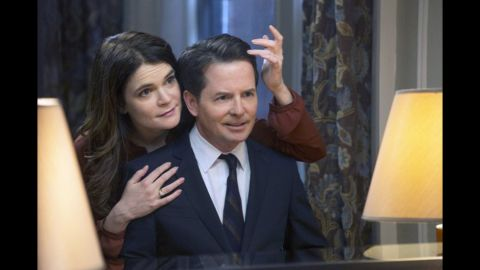 """Betsy Brandt starred on """"The Michael J. Fox Show"""" as Annie Henry while Fox played Mike Henry."""