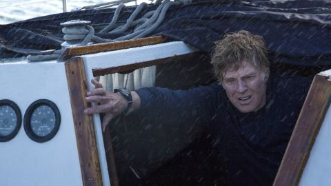 """Robert Redford was an aging sailor adrift alone on the Indian Ocean in 2013's """"All is Lost."""""""