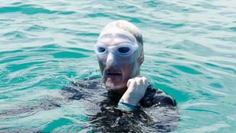 Diana Nyad became the first person to swim from Cuba to Florida without a protective cage, reaching a Key West beach on Monday, September 2, nearly 53 hours after jumping into the ocean in Havana for her fifth try in 35 years. The 64-year-old endurance swimmer had a 35-person team to help clear her path of jellyfish and watch for sharks.