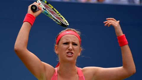 Victoria Azarenka didn't play her best at the U.S. Open in the fourth round but did enough to beat Ana Ivanovic.