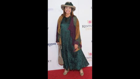 Actress Valerie Harper attends the 139th Kentucky Derby at Churchill Downs in Louisville, Kentucky on May 4, 2013.