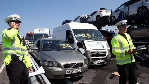 More than 30 people were taken to the hospital and large numbers were treated at the scene of the crash, the local ambulance service said.
