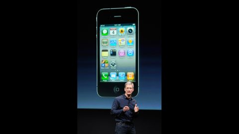 New Apple CEO Tim Cook unveiled the<strong> iPhone 4S</strong> at the company's Cupertino, California, headquarters on October 4, 2011 -- the first time he had introduced a new product since Jobs stepped down in August. It was a bittersweet day for Cook, who knew Jobs was near death. Indeed, Jobs died the next day after a long battle with cancer.