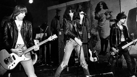 """With their leather jackets, sneering attitude and turbo-powered songs, the foursome from Queens, New York, defined """"punk,"""" and it was their July 4, 1976, appearance at London's Roundhouse that helped ignite the UK punk scene. """"If that Ramones record hadn't existed, I don't know if we could have built a scene here,"""" the Clash's Joe Strummer once said. Their rise was slower, but no less influential, in their home country."""