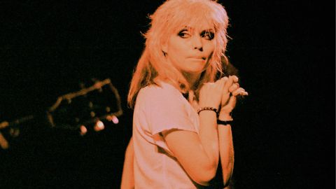 """Blondie was one of the many New York bands that came out of the downtown scene revolving around CBGB. The group, led by singer Debbie Harry and guitarist Chris Stein, was distinctive in its love of girl-group pop, though such songs as """"X Offender"""" certainly had different subject matter. The group eventually had four No. 1 hits."""