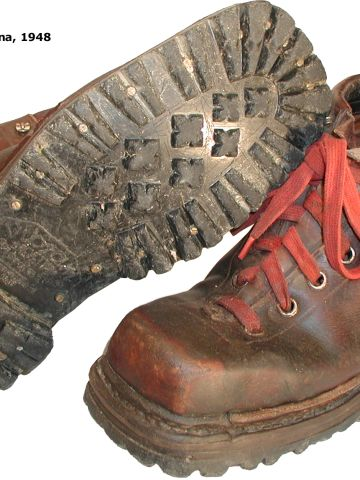 With the help of tire manufacturer Pirelli, Bramini created a new sole for climbing boots which had more grip and flexion.