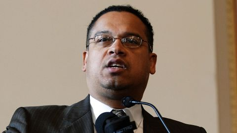 WASHINGTON - APRIL 17: U.S. Rep. Keith Ellison (D-MN) speaks to the Consultation on Conscience held by the Religious Action Center of Reform Judaism at the Cannon House Office Building April 17, 2007 on Capitol Hill in Washington. (Photo by Jonathan Ernst/Getty Images)