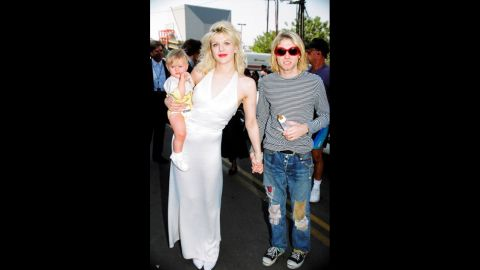 """Few couples typify the '90s like Cobain and his wife, Courtney Love. With Cobain being the pied piper of Seattle grunge and Love the rebellious other half, the two -- along with their daughter, Frances Bean -- were rock royalty in 1993. Frances Bean, <a href=""""http://www.hedislimane.com/rockdiary/index.php?e=viewSpe&rockdiarySpeHomeNo=57"""" target=""""_blank"""" target=""""_blank"""">who greatly resembles her late father,</a> is now in her 20s, an artist and<a href=""""https://twitter.com/alka_seltzer666"""" target=""""_blank"""" target=""""_blank""""> active Twitter user. </a>She and Love<a href=""""http://www.huffingtonpost.com/2015/01/25/frances-bean-cobain-courtney-love_n_6542494.html"""" target=""""_blank"""" target=""""_blank""""> attended a documentary on Kurt Cobain at Sundance</a>."""