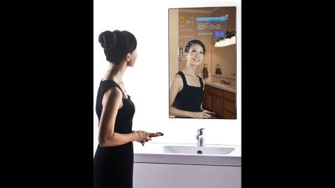 """<a href=""""http://www.brit.co/introducing-the-magic-mirror-2-0/"""" target=""""_blank"""" target=""""_blank"""">The Magic Mirror</a> is a fully functioning Wi-Fi mirror that lets you browse the Web and check the weather while you're brushing your teeth."""