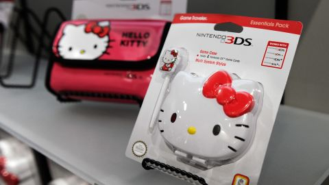 Hello Kitty branded video game cases are seen at the R.D.S. booth at the 2013 International CES at the Las Vegas Convention Center on January 9, 2013 in Las Vegas, Nevada.