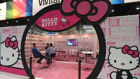 Hello Kitty booth at the 2013 International CES at the Las Vegas Convention Center on January 8, 2013 in Las Vegas, Nevada.