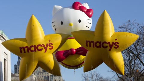 Hello Kitty flies high in the 2012 Macy's Thanksgiving Day Parade.
