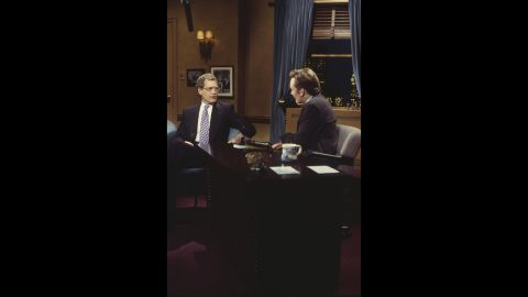 """David Letterman made his first return appearance to NBC on """"Late Night"""" in March 1994, and it's easily one of the first highlights of the show. Having both men in the same space was a classic <a href=""""http://www.youtube.com/watch?v=TlHYMjckEmM&feature=player_embedded"""" target=""""_blank"""" target=""""_blank"""">that should be watched repeatedly</a>."""