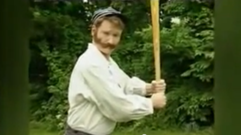 """One of his most popular clips, Conan has name-checked his visit to an """"old-fashioned baseball"""" league as one of his favorite segments. <a href=""""http://www.youtube.com/watch?v=2Aax2V7a3S4"""" target=""""_blank"""" target=""""_blank"""">He even tried it out himself</a>, probably one of the most memorable remote sketches."""