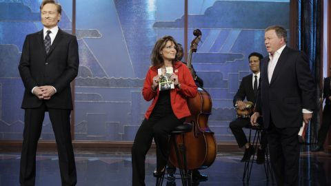 """In December 2009, Sarah Palin made a surprise visit to """"The Tonight Show"""" and returned a favor to William Shatner. Since Conan had the actor read dramatically from Palin's book """"Going Rogue"""" during a sketch, Palin showed up to read from Shatner's autobiography """"Up Till Now."""""""