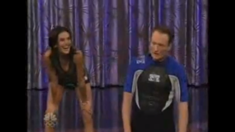 """Conan's challenge to Teri Hatcher ended in a way the host least expected. After challenging the actress to a race around Universal Studios, Conan fell and bumped his head, giving himself a concussion. <a href=""""http://www.usmagazine.com/entertainment/news/conan-obrien-injured-after-tonight-show-stunt-2009269"""" target=""""_blank"""" target=""""_blank"""">They had to cancel that show and air a re-run instead. </a>"""