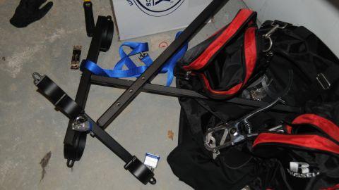 Bondage equipment.