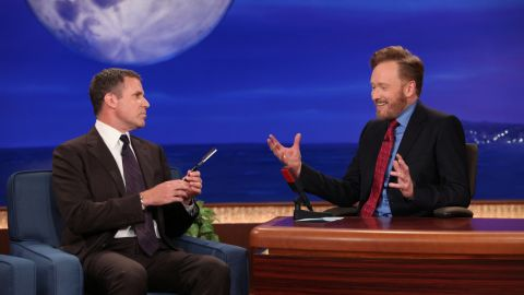 """Conan O'Brien's """"I've been fired!"""" beard briefly returned again in 2011, and ever loyal guest Will Ferrell made a huge fuss over shaving it. The Osama bin Laden raid had just happened, so Ferrell claimed the jubilant people in the streets were in reaction to the upcoming beard shaving."""