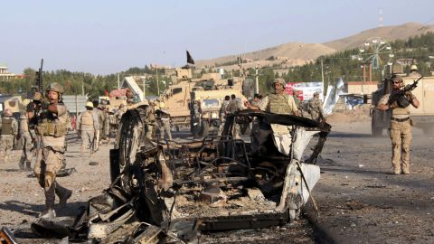 """U.S. troops led the investigation of the site of a suicide car bombing and a gunfight near the <a href=""""http://www.cnn.com/2013/09/13/world/asia/us-consulate-afghanistan-attack/index.html?hpt=hp_t2"""">U.S. consulate in Herat, Afghanistan</a>, on Friday, September 13. Taliban militants attacked the consulate using a car bomb and guns to battle security forces just outside the compound. An intercepted al Qaeda message led to the <a href=""""http://www.cnn.com/2013/08/04/politics/us-embassies-close/index.html"""">closing of 22 embassies and consulates</a> across the Middle East and North Africa on August 4. Take a look at other attacks on U.S. diplomatic sites in recent years."""