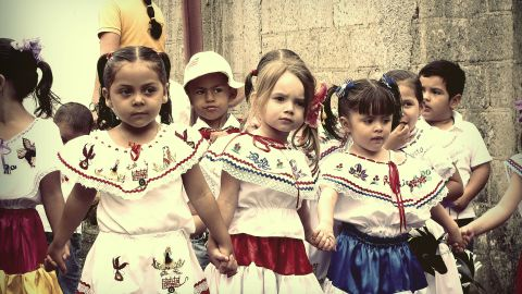 """""""In Costa Rica we proudly celebrate our independence throughout September which we call 'the Homeland's Month',"""" said Pablo Avilés, who took this photo in 2012. """"We are proud to be a country with no army, but we say that<a href=""""http://ireport.cnn.com/docs/DOC-1033715"""" target=""""_blank""""> our army is our children</a> in schools and high schools. I think this is one of the most beautiful moments, because you can see the kids reflecting the ethnic mix of Costa Rica,"""" said the 41-year-old web developer from San José, Costa Rica."""