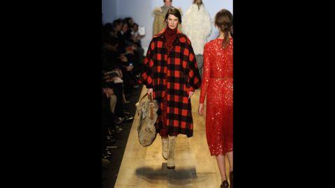 Michael Kors' fall 2012 fashion show during New York Fashion Week in February 2012.