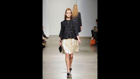 Karen Walker's fall 2012 fashion show during New York Fashion Week in February 2012.