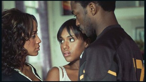 """Washington and Dania Ramirez, left, play a lesbian couple who wanted to pay Anthony Mackie to help them have a baby in Spike Lee's 2004 film, """"She Hate Me."""""""