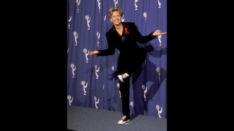 Ellen DeGeneres wore her signature sneakers-with-a-suit to the 1994 Emmys.