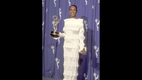 """Cicely Tyson cut a striking figure in white at the 1994 Emmy Awards, when she won for outstanding supporting actress in a TV miniseries or special with """"Oldest Living Confederate Widow Tells All."""""""