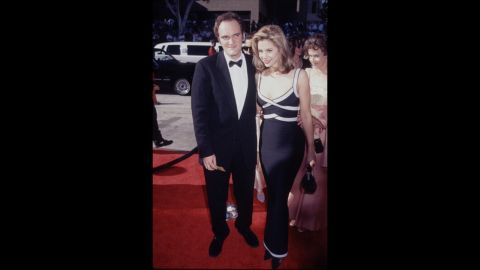 """At the 1996 Emmys, Quentin Tarantino and Mira Sorvino made a memorable pair on the red carpet. Sorvino was nominated for her portrayal of Marilyn Monroe in the TV movie """"Norma Jean and Marilyn."""""""