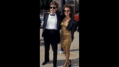 Siblings Jason and Justine Bateman were nearly matching at the 1987 Emmy Awards.