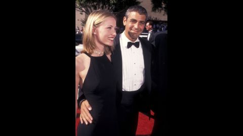 """George Clooney, who was starring in """"ER"""" at the time, attended the 1996 Emmys with French girlfriend, Celine Balitran. He was nominated for outstanding lead actor in a drama series for the second time."""