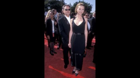 """""""Friends"""" actress Lisa Kudrow left her character's quirky wardrobe at the set for 1998's Emmy Awards."""