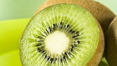 """<strong>Kiwi: </strong>Use this sweet fruit to add a tropical flavor to your recipes. It's great mixed with strawberries, cantaloupe or oranges and can be combined with pineapple to make a tangy chutney. <br /><br />Health benefits include• More vitamin C than an orange • Good source of potassium and copper <br />Harvest season: September to March<br /><br /><a href=""""http://www.health.com/health/gallery/0,,20447867,00.html"""" target=""""_blank"""" target=""""_blank"""">Health.com: Satisfying snacks for every craving</a>"""