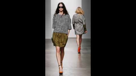 Karen Walker's fall 2013 show during Mercedes-Benz Fashion Week in February.