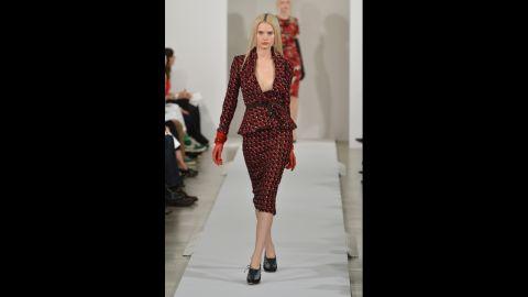 Oscar de la Renta's fall 2013 show during Mercedes-Benz Fashion Week in February.