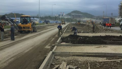 With the Games set to start on February 7, the city faces a race against time to be ready. Workmen are up against tight deadlines with construction still to be completed.
