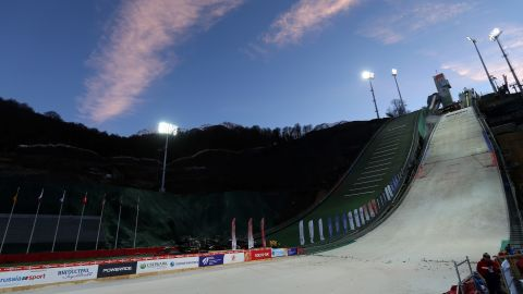 The world's top ski jumpers will be hoping to fly through the air and onto the podium at the RusSki Gork center.