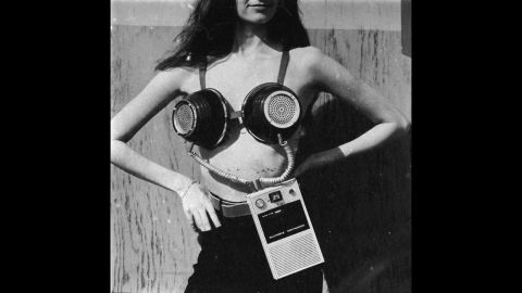 """Not every listening technology made the mainstream. A portable musical stereo bra, designed by Geoffrey Weston for Philip Garner's spoof """"Better Living Catalogue,"""" never busted through."""