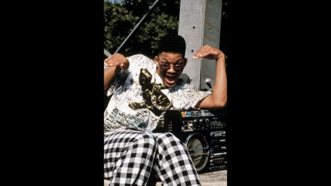 The boombox, a portable radio-cassette player with its own speakers, was a popular item in the 1980s and '90s -- especially with hip-hop stars such as Will Smith.
