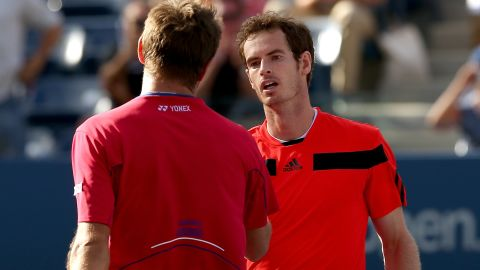 As the defending champion, Andy Murray lost to Stanislas Wawrinka in the quarterfinals of the U.S. Open.