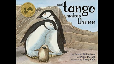 """After one year off the list, Peter Parnell and Justin Richardson's """"And Tango Makes Three"""" is back among the most-challenged books. The 2005 children's book is based on the true story of a pair of male penguins at the Central Park Zoo who hatched an egg together. The book has generated acclaim and controversy based on challenges that it is """"unsuited for age group."""" In 2012, it was marked for removal in the Davis, Utah, school district because parents might find it objectionable, according to the ALA."""