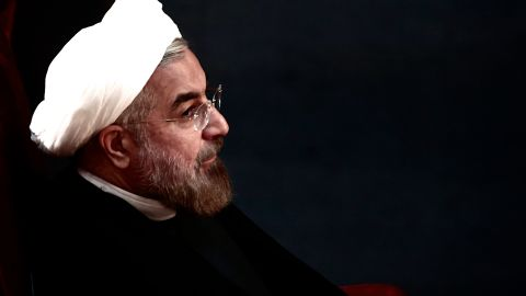 Iranian President Hassan Rowhani attends a session of the Assembly of Experts in Tehran on September 3, 2013.