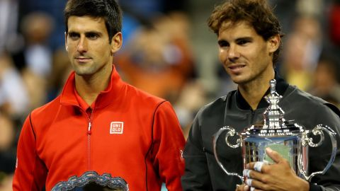Novak Djokovic remains the world No. 1 but he lost the U.S. Open final to Rafael Nadal, right, this month.