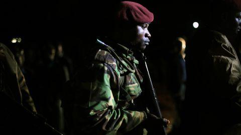 Kenyan Defense Forces leave the mall on September 23.