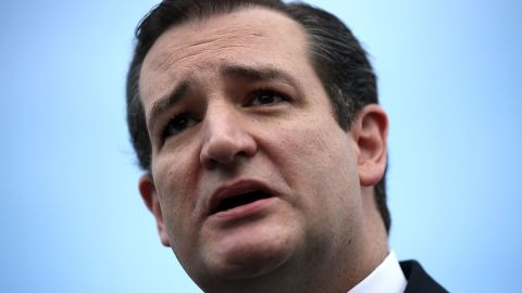 Senator Ted Cruz (R-TX) speaks during a news conference on Capitol Hill in Washington on May 16.