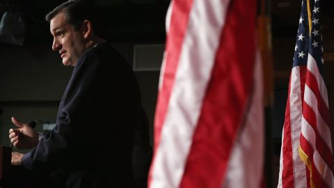 During a news conference in March 2013, Cruz announces a plan to defund the Affordable Care Act, also known as Obamacare.