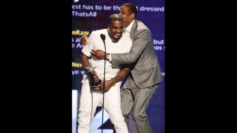 """Kanye West and Jay-Z go way back. West was a producer on Jay-Z's albums 13 years ago, and Jay-Z returned the favor, appearing on West's albums. The ultimate collaboration came in 2011 with the pair's wildly successful album """"Watch the Throne."""""""