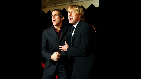 """Any fan of """"Zoolander"""" will tell you just how great Ben Stiller and Owen Wilson work together. The pair turned up again in """"The Royal Tenenbaums,"""" """"Starsky & Hutch"""" and the """"Meet the Parents"""" films."""