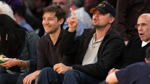 """Their bromance didn't start with """"The Great Gatsby."""" Tobey Maguire and Leonardo DiCaprio go back to the late 1980s. While doing press for the movie this summer, <a href=""""http://www.usatoday.com/story/life/movies/2013/05/15/tobey-maguire-leo-dicaprio-cannes-2013-great-gatsby/2160791/"""" target=""""_blank"""" target=""""_blank"""">Maguire called DiCaprio</a> """"one of my best friends."""" All together now: Awww..."""